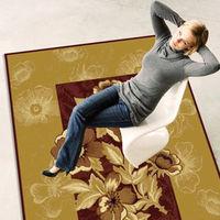 【范登伯格】芭比美式鄉村風進口絲質地毯-米紅140x190cm