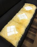 范登伯格 雪菱格100%羊毛超柔立體三人止滑坐墊-(米)40x150cm