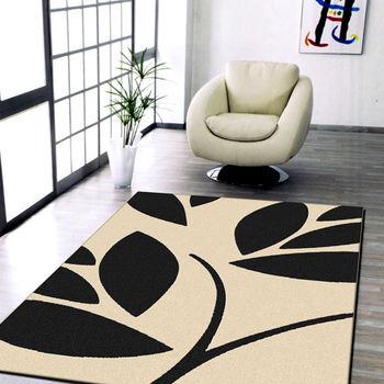 【范登伯格】夢想家黑與白自然風進口地毯/地墊/床邊毯/玄關墊200X290CM
