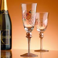 【Madiggan貝斯麗】玫瑰系列手工彩繪香檳對杯(附禮盒)(粉紅-瑕疵品)
