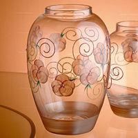 【Madiggan貝斯麗】玫瑰系列手工彩繪橢圓花瓶-中(粉紅色)