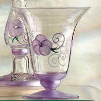 【Madiggan貝斯麗】玫瑰系列手工彩繪喇叭燭台花瓶-小(粉紅.金黃任選)