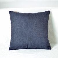 【協貿】簡約現代宜家牛仔布極夜黑沙發方形抱枕含芯