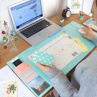 【買就送筆管】多功能書桌辦公桌超大收納桌墊