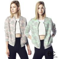 【法國BC】空氣針織緹花拉鍊外套(粉/綠任選)