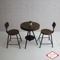 【微量元素】手感工業風美式桌椅組 一桌二椅