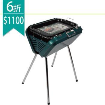 【LIFECODE】提箱型烤肉架(附烤盤)-寬50cm-行動