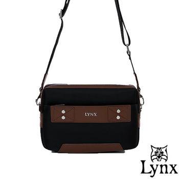 Lynx - 山貓紳士極簡風格2WAY真皮手拿側背包-共3色