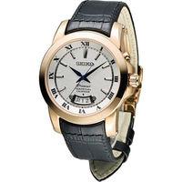 精工 SEIKO Premier 羅馬萬年曆紳士錶 6A32-00X0P SNQ152J1皮