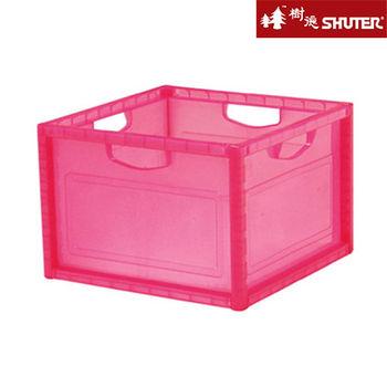 【樹德SHUTER】大透彩巧拼收納箱 (6入組) -粉紅