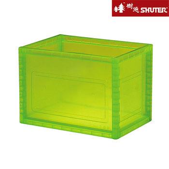 【樹德SHUTER】小透彩巧拼收納箱 (6入組) -粉綠
