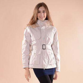【JORDON】 女款 GORE-TEX+PRIMALOFT 二合一短版腰身大衣外套(1094)