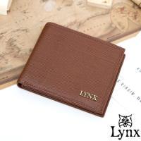 Lynx - 經典80復古風真皮系列8卡1照左右翻短夾