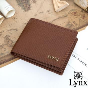 Lynx - 經典80復古風真皮系列5卡1照左右翻短夾