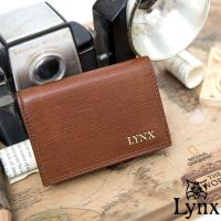 Lynx - 經典80復古風真皮系列簡約式名片夾