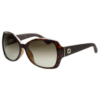 GUCCI- 時尚低調 太陽眼鏡 (琥珀色)