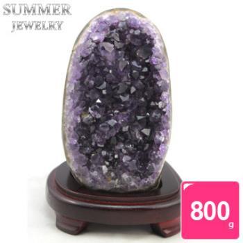 SUMMER寶石《隨機出貨》3A級烏拉圭紫水晶片800g以上(頂級深紫色)