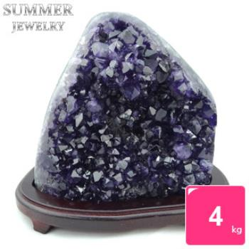 【SUMMER寶石】《隨機出貨》3A級烏拉圭紫水晶鎮4kg以上(頂級深紫色)