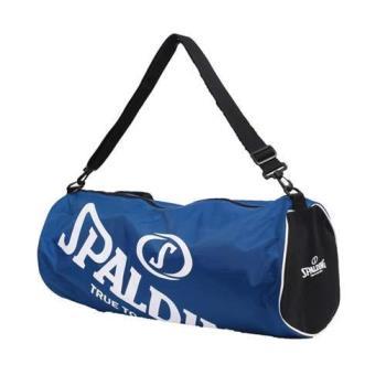 【SPALDING】三顆裝球袋-斯伯丁 籃球 側背包 手提袋 收納袋 寶藍白