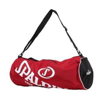 【SPALDING】三顆裝球袋-斯伯丁 籃球 側背包 手提袋 收納袋 行李袋 紅白