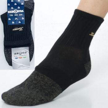 【KEROPPA】可諾帕銀纖維抗菌除臭運動厚底短襪(男女適用)C98003GS黑米灰