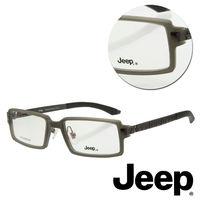 【JEEP】純鈦全框長方灰色光學眼鏡(J-TF5003-C3)