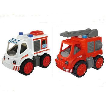 【德國BIG】工程車系列-雲梯車+救護車一起買享優惠價