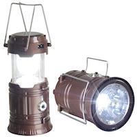 【新一代】太陽能充電露營燈/手電筒(超值2入)