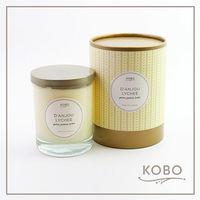 【KOBO】美國大豆精油蠟燭 - 梨與荔枝 (330g/可燃燒80hr)
