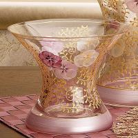 Madiggan貝斯麗 鬱金香系列手工彩繪寬口曲線花瓶-小