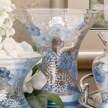 Madiggan貝斯麗 鬱金香系列手工彩繪寬口曲線花瓶-大