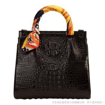 M2nd質感風尚鱷魚皮包(珍稀皮革系列 金鑽黑)