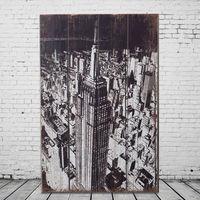 OPUS LOFT純真年代 40X60仿舊美國帝國大廈木板畫 (A46004-2)