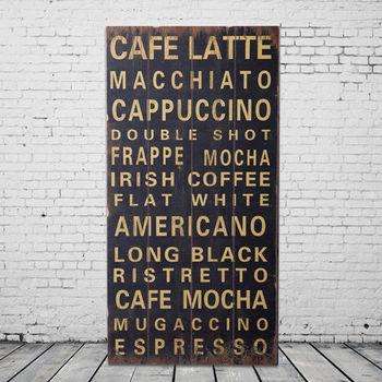 【OPUS LOFT純真年代】40X80仿舊文字木板畫/無框畫/掛畫擺飾 (A48003-1 CAFE LATTE)