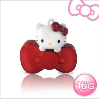 Hello Kitty 16GB 蝴蝶結系列造型隨身碟-璀璨紅