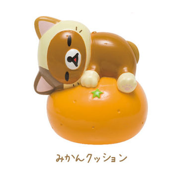 San-X 拉拉熊快樂貓生活系列迷你盒玩 橘子懶熊