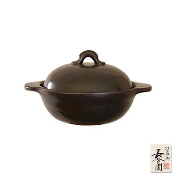 日本長谷園伊賀燒 多功能調理個人小砂鍋(深型黑)
