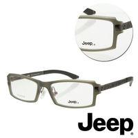 【JEEP】純鈦全框方形灰色光學眼鏡(J-TF5004-C3)