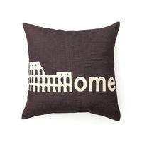 【協貿】城市簡約棉麻復古羅馬棕沙發方形抱枕含芯
