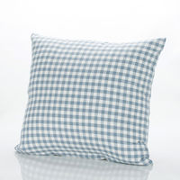【協貿】全棉水洗棉格子雅緻無印風藍格沙發方形抱枕含芯
