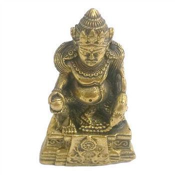 【十相自在】4公分 小佛像/法像-古銅色(黃財神)