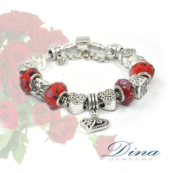 DINA JEWELRY蒂娜珠寶  炙熱之心 潘朵拉風格 設計手鍊