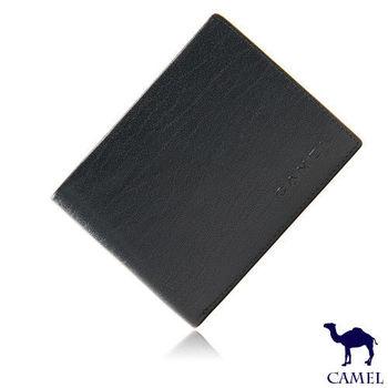 CAMEL - 沉穩內斂系真皮款8卡2照左右翻短夾-共2色