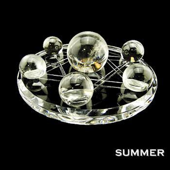 【SUMMER寶石】開運大陣-天然清透白水晶球七星陣(開運能量超強)