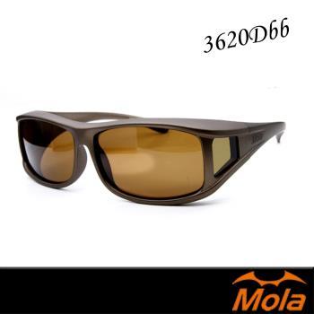 mola包覆式偏光太陽眼鏡 套鏡 墨鏡 UV400 近視/老花眼鏡可戴--3620Dbb