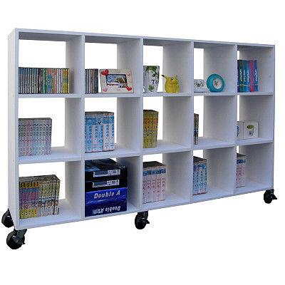 【頂堅】寬大型15格收納櫃/書櫃(附六個有剎工業輪)-二色可選