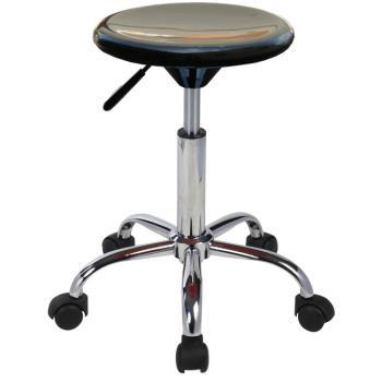 【E-Style】高級(移動式金屬鍍鉻五爪腳)吧台椅/工作椅/吧檯椅-1入組(三色可選)