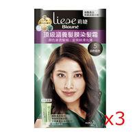 莉婕頂級涵養髮膜染髮霜 5自然棕色40g+40g(3入)