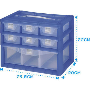 【DOLEDO】手提分類收納整理盒- 二+一層(29.5cm x 20cm x 22cm)