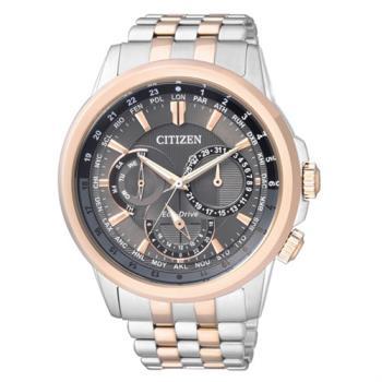 【CITIZEN星辰】Eco-Drive光動能 專業穩重時尚腕錶-咖啡x金/43mm (BU2026-65H)